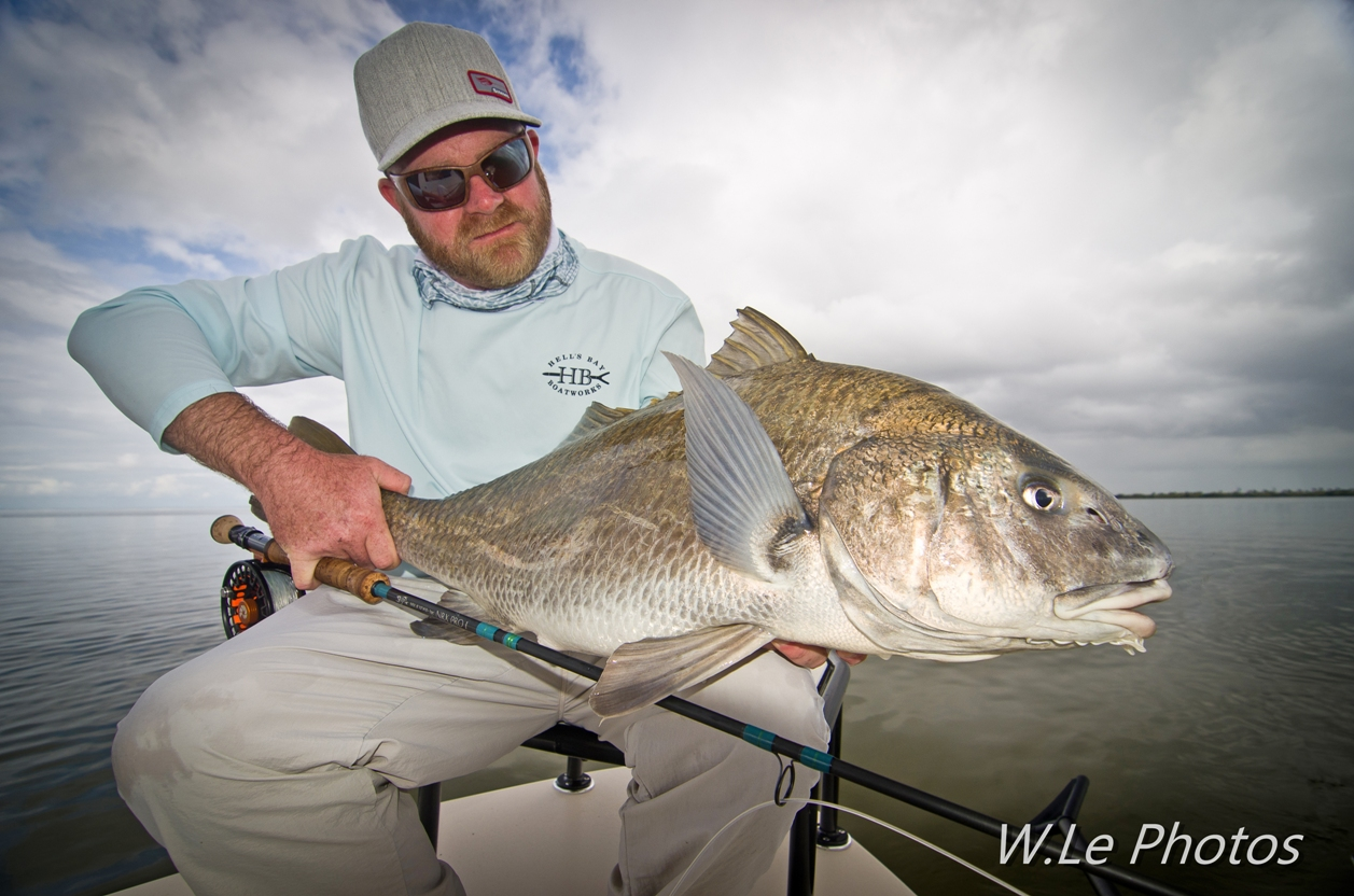 Fly fishing for Black Drum