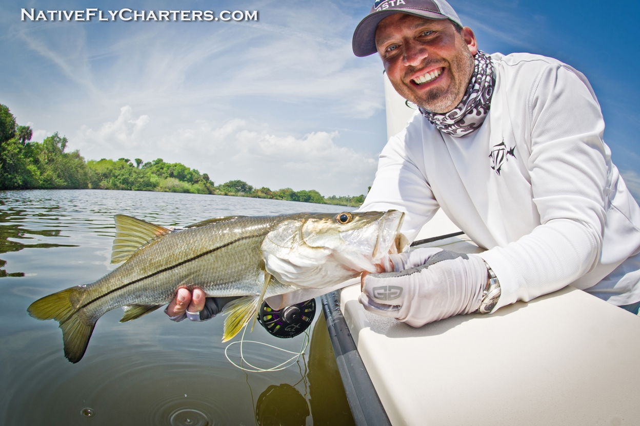 Mosquito Lagoon Snook on fly